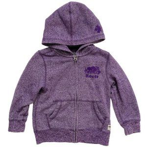Roots Original Full-Zip Hoodie in Purple